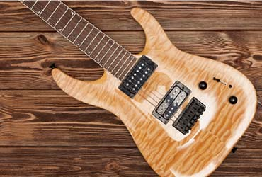 soft maple electric guitar
